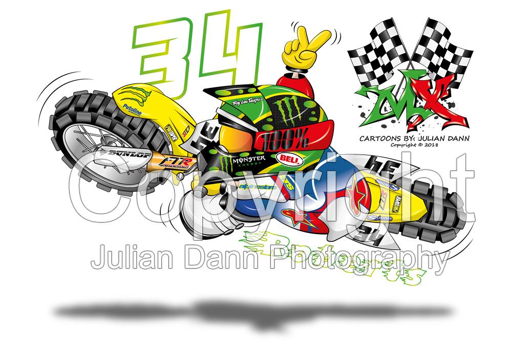 motocross cartoons