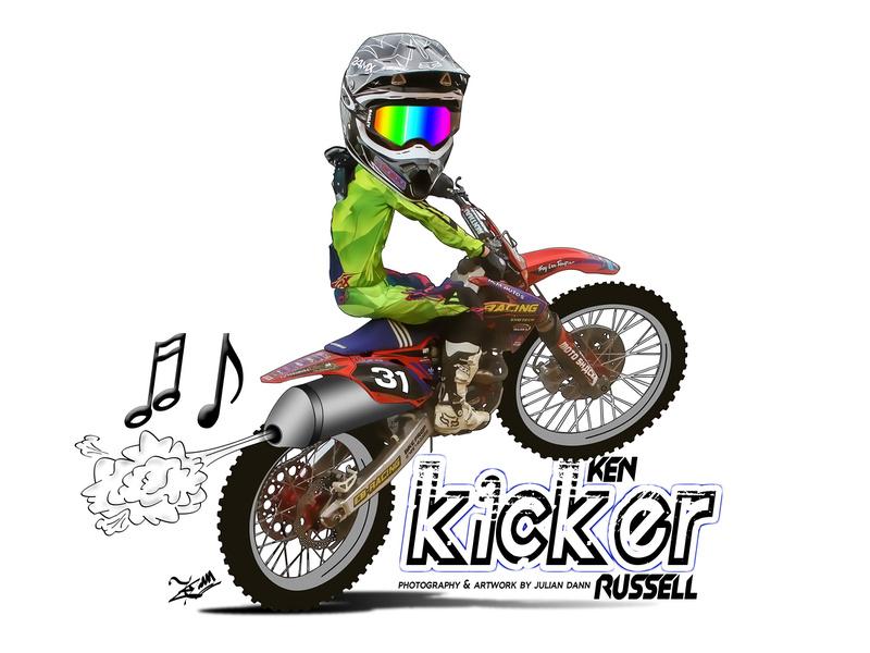 Julian Dann Photography Motocross Caricature Cartoons